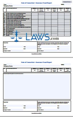 Insurance Fraud Report Form