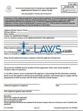 Rental Car Company Permit Application