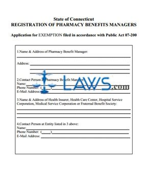 Registration of Pharmacy Benefits Managers