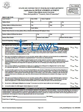 Duplicate License Request Form (Bail Bonds Licensee Only)