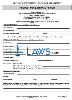 External Review Application Form