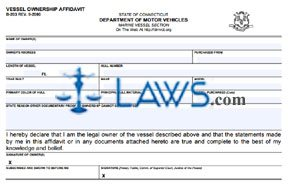 Form B-203 Vessel Ownership Affidavit