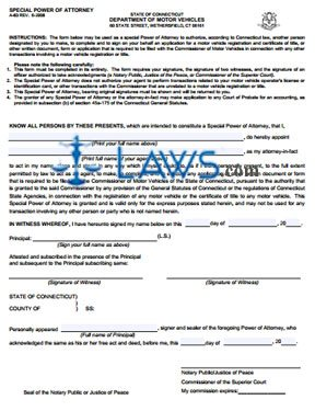 Form A-83 Special Power of Attorney