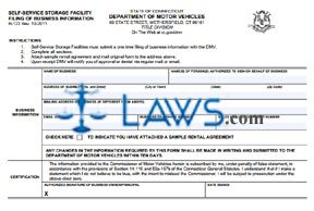 Form H-123 Self-Service Storage Facility Filing of Business Information