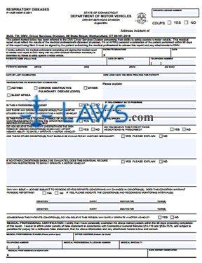 Form P-142R Respiratory Diseases