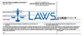Form E-22 No Fee Affidavit for Registration