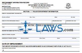 Form LS-6 Impoundment Information Record