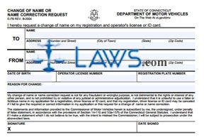 Form E-78 License Change of Name Request