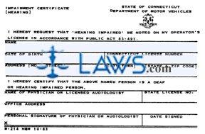 Form B-214 Hearing Impairment Certificate