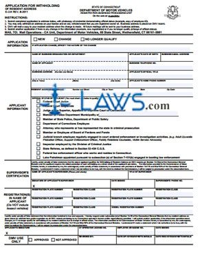 Form E-224 Application for Withholding of Resident Address