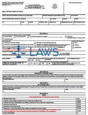 Form B-350 Application for Duplicate Driver License or Non-Driver ID Card by Mail