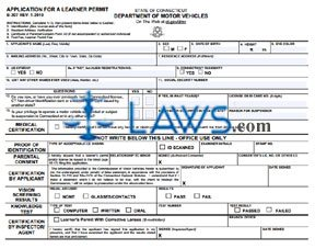 Form B-307 Application for a Learner's Permit