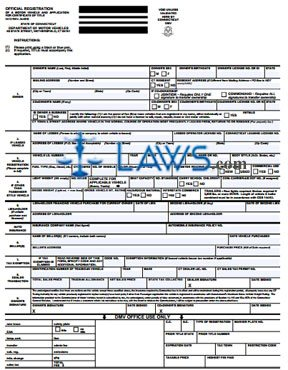 Form H-13 Application for Registration and Certificate of Title