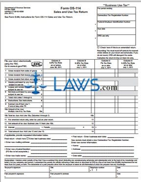 form os 114 Form OS-114 Business Sales and Use Tax Return - Sales Tax Forms ...