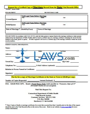 Form VS-39MST Request for a Certified Copy of Marriage Record from the State Vital Records Office