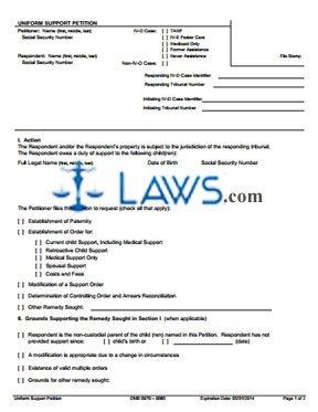 Form OCSE-OMB-0970-0085-U