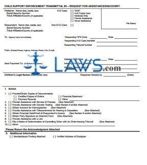Form OCSE-OMB-0970-0085-T3