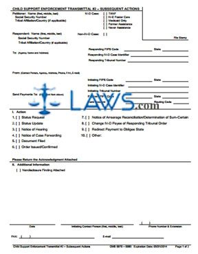 Form OCSE-OMB-0970-0085-T2