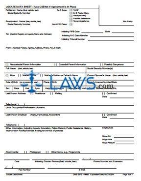Form OCSE-OMB-0970-0085-L