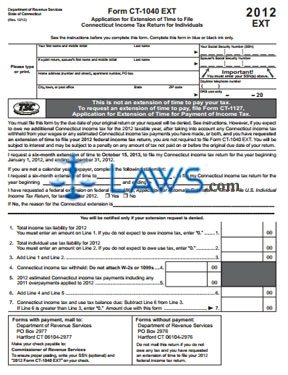form ct1040 Form CT-1040 EXT Application for Extension of Time to File Income ...