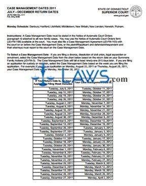 Form JD-FM-165A_JULY-DEC_2011 Case Management Dates 2011