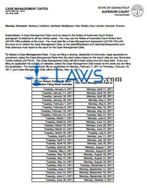 Form JD-FM-165A_JAN-JUNE_2011 Case Management Dates