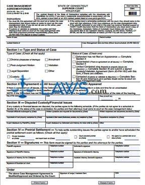 Form JD-FM-163 Case Management Agreement