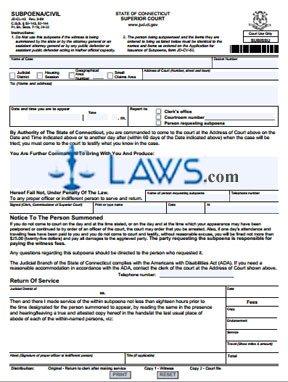 Form JD-CL-43 Subpoena / Civil