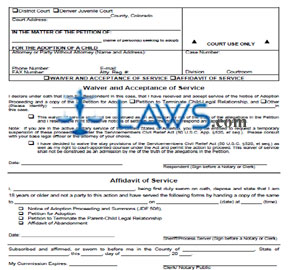 Affidavit of Service/Waiver and Acceptance of Service