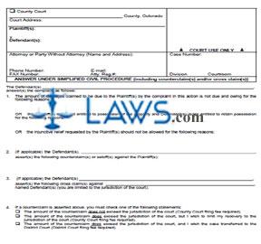 Answer Under Simplified Civil Procedure