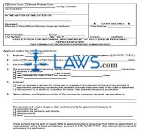 application be personal legal representative