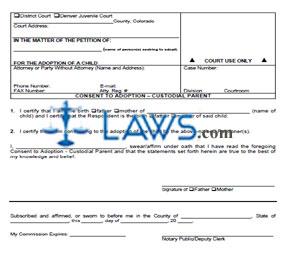 Consent to Adoption - Custodial Parent