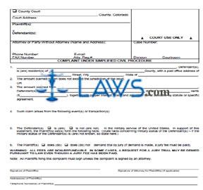 County Civil Complaint