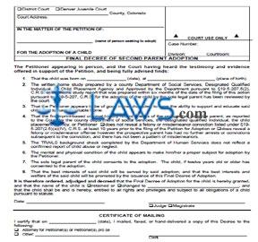 Decree for Second Parent Adoption