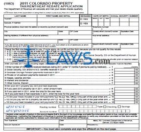 Form 2011 Colorado Property Tax-Rent-Heat Rebate Application