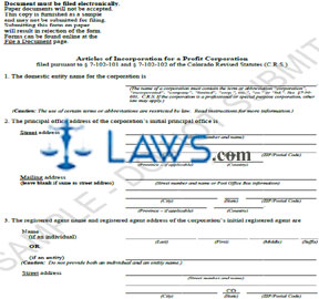 Form Articles of Incorporation for a Profit Corporation (Sample)