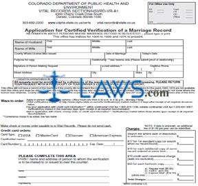 Form CO Marriage Verification Application