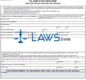 Form DR 0137 Claim for Refund 2011