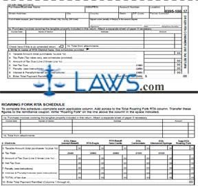 Form DR-0251 RTA Consumer Use Tax Return