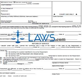 Form JDF 1503 Waiver of Service - Colorado Forms -   Laws.com