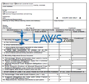 Colorado child support worksheet instructions