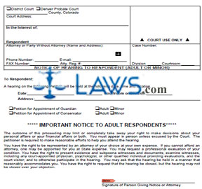 Form JDF 807 Notice of Hearing to Respondent
