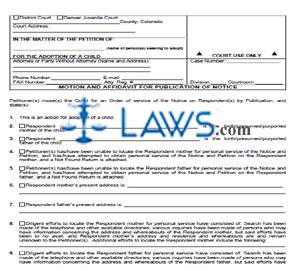 Motion & Affidavit for Publication of Notice