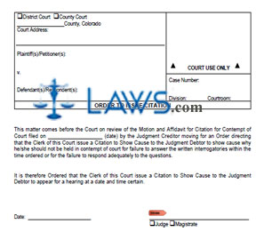 Order to Issue Citation
