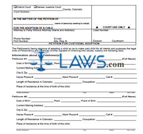 Petition for Custodial Adoption